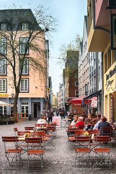 April rainy days in Köln (Cologne), Germany