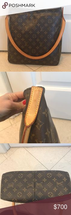 Authentic Louis Vuitton monogram Authentic Louis Vuitton large shoulder bag.  Barely used kept very clean in almost excellent condition. Comes with original dust bag. Louis Vuitton Bags Shoulder Bags