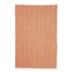 Kimberly Orange Small Cotton Rug - 60x90cm