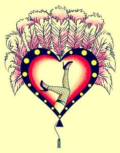 cute! burlesque heart (by Crisis Tattoo)