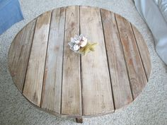 small rustic coffee table