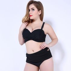 $22.13 (Buy here: https://alitems.com/g/1e8d114494ebda23ff8b16525dc3e8/?i=5&ulp=https%3A%2F%2Fwww.aliexpress.com%2Fitem%2FBlack-Bandage-Waist-Plus-Size-Swimwear-Bikini-2016-Highwaist-Swimsuit-High-Waisted-Swimwear-Sexy-Bathing-Suits%2F32689849705.html ) Black Bandage Waist Plus Size Swimwear Bikini 2016 Highwaist Swimsuit High Waisted Swimwear Sexy Bathing Suits For Women Bikinis for just $22.13