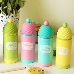 New Water Bottle Colorful Double Deck Cupcake Thermos Mug Vacuum Cup 4 colors  #Thermos