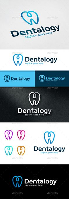 Dental Logo Template by cubecolor This logo is great for dental, clinic, service or any other business Description:- Full color logo (Vertical