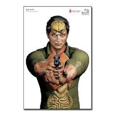 Human Anatomy Armed Gunman Target Poster now available at www.karatemart.com/