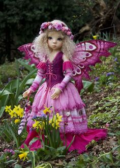 Pink Sapphire Fairy Modeling this lovely pink fairy commission is my cute Layla by Kaye Wiggs