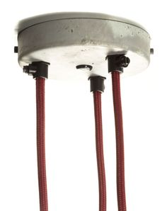 Multiple Outlet Ceiling Rose Galvanised 3 Outlet