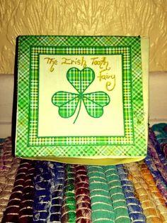 Handmade Irish shamrock/ clover Irish Tooth fairy by TheIrishFairy
