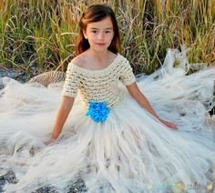 #crochet, free pattern, dress in 4 sizes, tule, #haken, gratis patroon (Engels), 4 maten, jurk met tule, meisje, princes, #haakpatroon