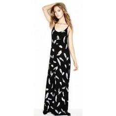 SHOP DIVERGENCE CLOTHING  Michael Lauren Miles Reversible Tank Maxi Dress in Feather Print   #FEATHER #BOHO #MAXIDRESS #OOTD #SPRINGFASHION #MICHAELLAUREN #SUMMERDRESS