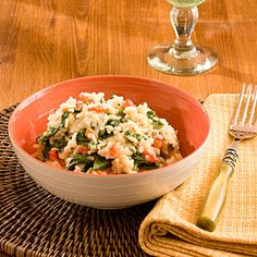 Fan Favorite: A delicious take on risotto, made completely in the microwave.