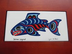 Joe Wilson Salmon Legend Native American Art a by Jaxsprats