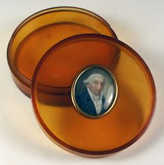 Antique French Snuff Box, Case, or BonBon in Shell and with Amazing Portrait Miniature, c.17800-30