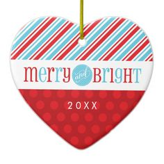 PHOTO CHRISTMAS ORNAMENT :: merry & bright 1