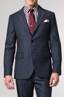 The Bootlegger Blue Tweed Suit