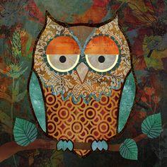 'Decorative Owl' by Abby White