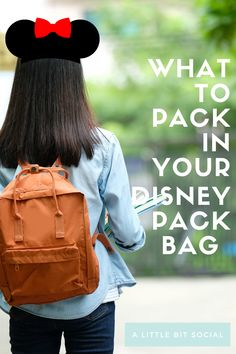 Need to know what to pack in your Disney park bag? Get your free Disney park bag packing list in this post with 15 essential items to include in your Disney park pack #disneyparkbag #disneypackinglist #disneylandparispackinglist #disneylandparisparkbag