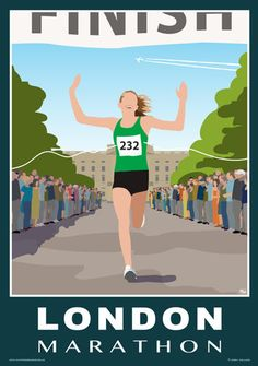 London Marathon commemorative poster. Available on Etsy starting at £12