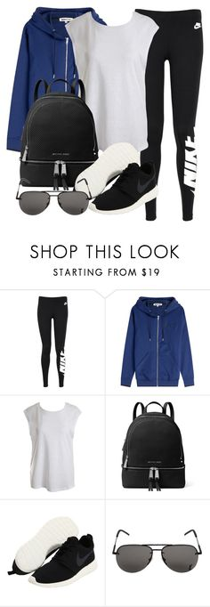 """""""Untitled #12095"""" by vany-alvarado ❤ liked on Polyvore featuring NIKE, McQ by Alexander McQueen, Sans Souci, MICHAEL Michael Kors and Yves Saint Laurent"""