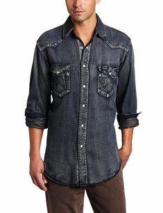 dc1c1a35ed Wrangler Men s Cowboy Cut Western Two Pocket Long Sleeve Snap Workshirt   fashion  clothing