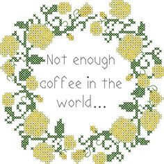 Coffee cross stitch pattern/subversive cross stitch pattern/office humor cross stitch pattern/cross stitch roses/roses cross stitch border by oneofakindbabydesign on Etsy