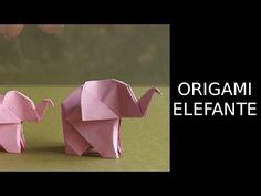 Elefante origami fácil I Origami elephant easy - YouTube