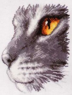 click here to view larger image of Cat's Profile (counted cross stitch kit)