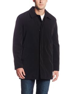 Hart Schaffner Marx Men's Concord All Weather Raincoat with Zip Out Liner, Black, X-Large