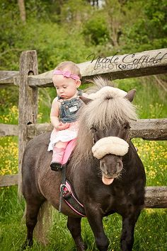 little country girl with her pony - toddler photography - OMG! This is so cute!! I can't wait to put Hay Hay pack on a horse! She loves her horses!