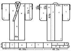 Ah So Simple Kimono is Easy to Sew (A pattern found from an old newpaper article that I had scanned in many years ago and fixed up to be readable and usable) (Note: If you are larger than 54~60 inches...