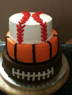 sports Bithday - This was done in buttercream