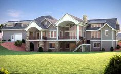 Five Bedroom Craftsman Home Plan - 95007RW   Craftsman, Mountain, Northwest, Luxury, 1st Floor Master Suite, Butler Walk-in Pantry, CAD Available, Den-Office-Library-Study, Media-Game-Home Theater, PDF, Corner Lot, Sloping Lot   Architectural Designs
