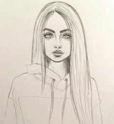 Art & Drawings Drawing, # pencil drawing fixing # pencil drawing photoshop # pencils - Cute Easy Drawings, Cool Art Drawings, Pencil Art Drawings, Beautiful Drawings, Drawing With Pencil, Pretty Drawings Of Girls, Drawings Of Hair, Skull Drawings, Beautiful Girl Drawing
