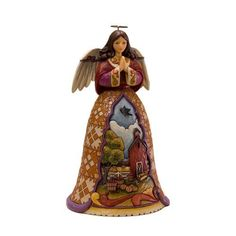 Jim Shore Heartwood Creek from Enesco Autumn Angel with Dangles Figurine 9.25 IN by Enesco