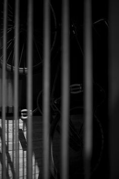 Bicycle in a cage