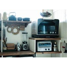 makoroさんの、デザイン家電,キッチン収納,和,DIY,家電,キッチン,のお部屋写真