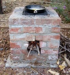 """Build your own backyard """"rocket stove"""", which cooks food using only twigs and debris for fuel by jannie"""