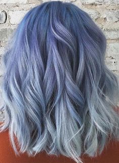 Gorgeous pastel blue hair color trends for women in 2019 . - Gorgeous pastel blue hair color trends for women in 2019 color trends blue - Cute Hair Colors, Hair Dye Colors, Cool Hair Color, Pastel Blue Hair, Ombre Hair Color, Pastel Hair Colors, Periwinkle Hair, Dyed Hair Blue, Purple Hair