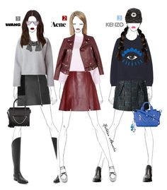"""""""Which outfit & brand is your fave?"""" by katrine-amalie ❤ liked on Polyvore featuring Kenzo, Alexander Wang, Acne Studios and T By Alexander Wang"""