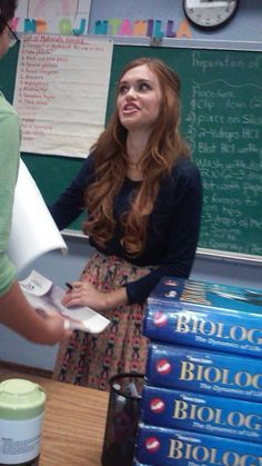 """Holland Roden & """"Meatless Monday"""" In the secondary school named after Alexander Hamilton in Los Angeles (Jan. 26, 2015)"""