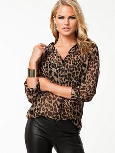 - Trendy leopard print casual loose shirt for the fashionable woman - Modern…