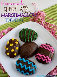 homemade marshmallow easter eggs