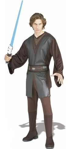 Adult Costumes - This mens Anakin Skywalker costume includes the Anakin Skywalker brown tunic, and the pants with attached boot tops and the belt. This Anakin Skywalker costume is an officially licensed authentic Star Wars Costume. Costume Star Wars, Star Wars Halloween Costumes, Fancy Costumes, Adult Halloween, Adult Costumes, Men's Costumes, Halloween 2017, Star Wars Anakin Skywalker
