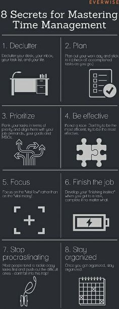 Secrets for Mastering Time Management(Infographic) We all need a little time management help. This infographic might helpand won't take much time :-)We all need a little time management help. This infographic might helpand won't take much time :-)