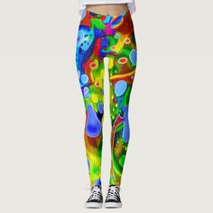 """40% OFF Leggings – Use CODE: ZBESTSELLERS 'til Midnite Tonite 6-7-17. These leggings will give you an entirely new exotic, exciting look. Similar to the currently trending """"Ikat"""" style, this design blends abstract art, technology and psychedelia in a completely unique fashion. The origination image is from my Kinetic Collage """"Sweet Dreams"""" series of light show photos. Over 3000 products at my Zazzle online store. Open 24/7 World wide…"""