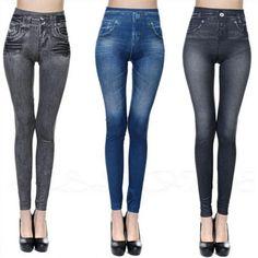 Jeans Leggings Stretch Pants Women Push Up High Waist Warm Velvet Jeggings Seamless Legging Jean, Denim Leggings, Leggings Are Not Pants, Women's Leggings, Tights, Leggings Fashion, Leggings Store, Trousers Fashion, Workout Leggings