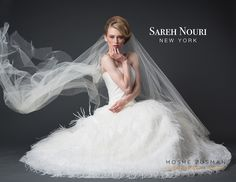 Sareh Nouri Couture vintage wedding dresses Moshe Zusman Photography Studio DC NY