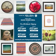Day 6 of 9 Days of Nifty GiftiesFREE WORLDWIDE SHIPPING + UP TO $20 OFF TAPESTRIES - $32 OFF DUVETS - $10 OFF CLOCKS - $20 OFF SHOWER CURTAINS - ENDS TONIGHT AT MIDNIGHT PT! https://society6.com/katayoonphotography #sale #specialoffer #discount #bigsale #realbargain #bargain #savemoney #holidayshopping #christmasshopping #decor #homedecor #beautifulhomes #beautifulhouses #beautifulrooms #beautifulbedrooms #artprint #framedart #wallart #tapestries #landscape #photography #design…