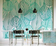 Browse images of Turquoise Modern Dining room designs: Light Sky. Find the best photos for ideas & inspiration to create your perfect home. Source by Browse images of Turquoise Mod… Dining Room Walls, Dining Room Design, Dining Set, Design Seeds, Plant Wall, Wall Design, Sky Design, Ikea, Wall Decor
