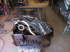 T-Rex Skull Reclaimed Art/Metal Frederick Doran T Rex, Skull, Industrial, Metal, Design, Decor, Art, Art Background, Decoration